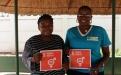 Sibonginkosi Dunjana project officer for ZWLA and Sethulo Ncube